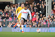 Fulham defender Ryan Sessegnon (30) dribbling during the EFL Sky Bet Championship match between Fulham and Preston North End at Craven Cottage, London, England on 4 March 2017. Photo by Matthew Redman.