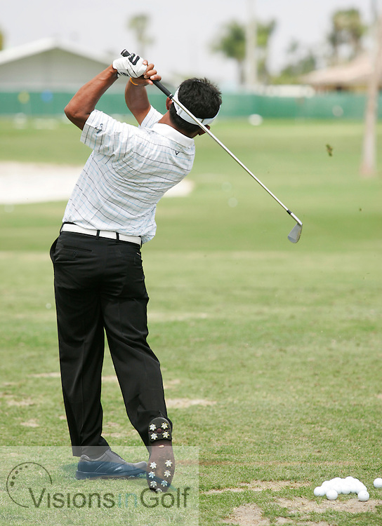Thongchai Jaidee swing sequence<br /> WGC CA Championship, Doral, Blue monster GC, Florida USA. 22nd March 2007.<br /> Picture Credit:   Mark Newcombe / visionsingolf.com