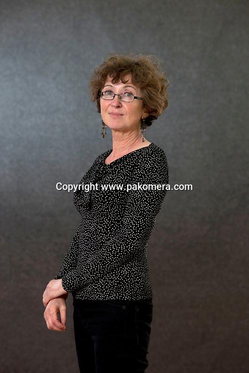 A portrait of Selina O'Grady at the Edinburgh International Book Festival 2012 in Charlotte Square Gardens<br /> <br /> Pic by Pako Mera