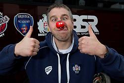 Ryan Jones of Bristol Rugby, Bristol Sport Red Nose Day. - Photo mandatory by-line: Joe Meredith/JMP - Mobile: 07966 386802 - 05/03/2015 - SPORT - football - Bristol - Ashton Gate - Red Nose Day