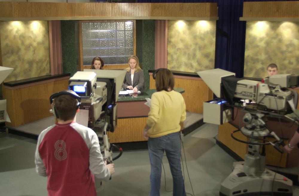 15797      WOUB TV Studio Action shots