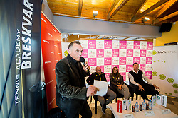 Gasper Bolhar during press conference of Slovenian Women Tennis Team before FedCup Competition 2018, on January 25, 2018 in Tennis Centre Breskvar, Ljubljana, Slovenia.  Photo by Vid Ponikvar / Sportida