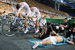 Behind the scenes, COL, Tandem 4km Pursuit Qualifiers , 2015 UCI Para-Cycling Track World Championships, Apeldoorn, Netherlands
