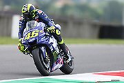 #46 Valentino Rossi, Italian: Movistar Yamaha MotoGP brakes hard during Friday Practice at the MotoGP Gran Premio d'Italia Oakley at Autodromo del Mugello Circuit, Senni-San Carlo, Italy on 1 June 2018. Picture by Graham Holt.