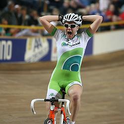 Winanda Spoor wordt Nederlands kampioene op de scratch