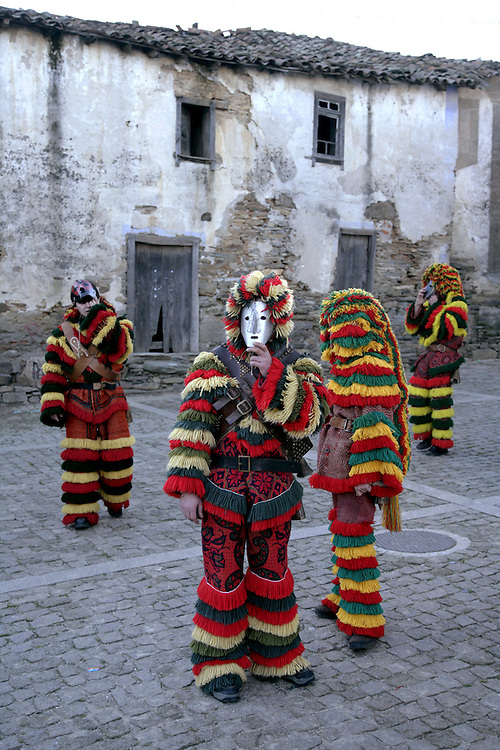 "During the festivities, ""Caretos"" always walk in noisy groups, spreading terror, excitement and laughter"