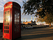 Red phone box, Bozza bikes and Battersea Power Station - all London icons