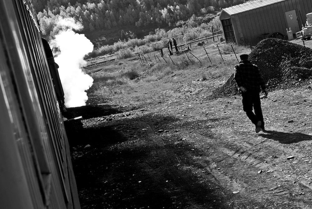 Durango & Silverton Narrow Guage railroad. Silverton, Colorado depot.