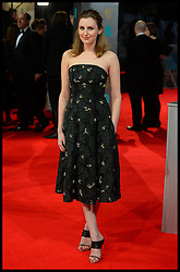 Downton Abbey's Laura Carmichael arrives for the EE BRITISH ACADEMY FILM AWARDS 2014 (BAFTA) at the The Royal Opera House in Covent Garden . London, United Kingdom. Sunday, 16th February 2014. Picture by Andrew Parsons / i-Images