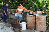 Butcher in Arcos de Canasi, Mayabeque, Cuba.