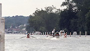 "Henley on Thames. Henley. GREAT BRITAIN;  General View looking towards Henly Bridge from the Reach. <br /> <br /> 1995 Women's Henley Regatta. Henley Reach. River Thames.<br /> <br /> [Mandatory Credit; ""Photo, Peter Spurrier/Intersport-images]"
