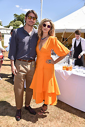 Josh Hartnett and Tamsin Egerton at the 'Cartier Style et Luxe' enclosure during the Goodwood Festival of Speed, Goodwood House, West Sussex, England. 15 July 2018.
