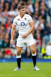 England replacement Owen Farrell looks on - Mandatory byline: Rogan Thomson/JMP - 07966 386802 - 05/09/2015 - RUGBY UNION - Twickenham Stadium - London, England - England v Ireland - QBE Internationals 2015.
