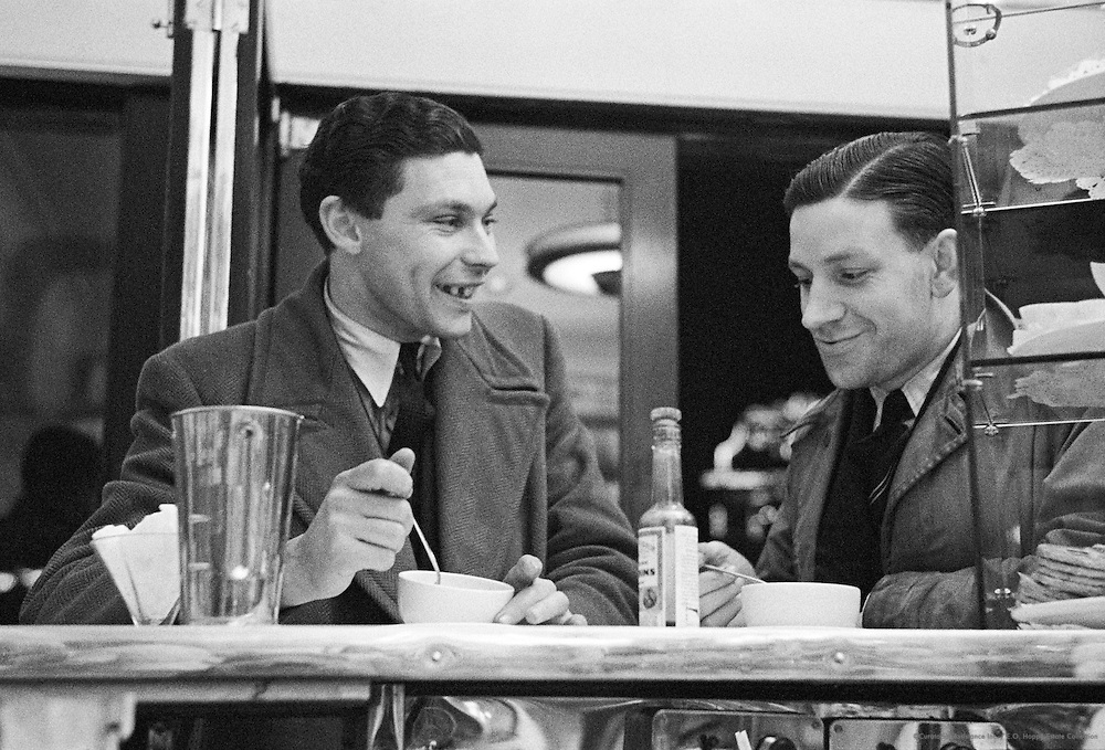 At the Counter in a Snack Bar, London, 1939