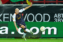 MOSCOW, RUSSIA - Thursday, November 8, 2012: Liverpool's Jonjo Shelvey in action against FC Anji Makhachkala during the UEFA Europa League Group A match at the Lokomotiv Stadium. (Pic by David Rawcliffe/Propaganda)