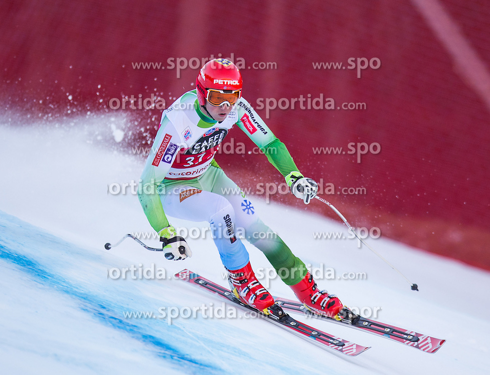 29.12.2015, Deborah Compagnoni Rennstrecke, Santa Caterina, ITA, FIS Ski Weltcup, Santa Caterina, Abfahrt, Herren, im Bild Klemen Kosi (SLO) // Klemen Kosi of Slovenia in action during the men's Downhill of the Santa Caterina FIS Ski Alpine World Cup at the Deborah Compagnoni Course in Santa Caterina, Italy on 2015/12/29. EXPA Pictures © 2015, PhotoCredit: EXPA/ Johann Groder