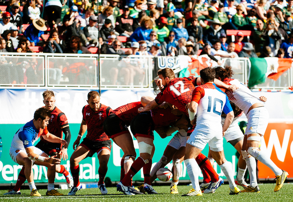 during the knockout stages of the 2016 USA Sevens leg of the HSBC Sevens World Series at Sam Boyd Stadium  Las Vegas, Nevada. Saturday March 5, 2016.<br /> <br /> Jack Megaw for USA Sevens.<br /> <br /> www.jackmegaw.com<br /> <br /> 610.764.3094<br /> jack@jackmegaw.com