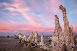 """Sunset at Mono Lake 1"" - These tufa were photographed at Mono Lake, CA"