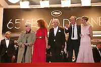 Director Alain Resnais and cast at the Vous N'Avez Encore Rien Vu gala screening at the 65th Cannes Film Festival France. Monday 21st May 2012 in Cannes Film Festival, France.