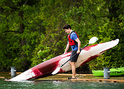 Prime Minister Justin Trudeau puts a kayak into the Niagara River in Niagara-o-the Lake, Ont., on Monday, June 5, 2017. Trudeau was promoting World Environment Day. Photo by Nathan Denette/CP/ABACAPRESS.COM