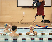 Lehi High School swimming practice at the Lehi Legacy Center, Tuesday, Dec. 18, 2012.