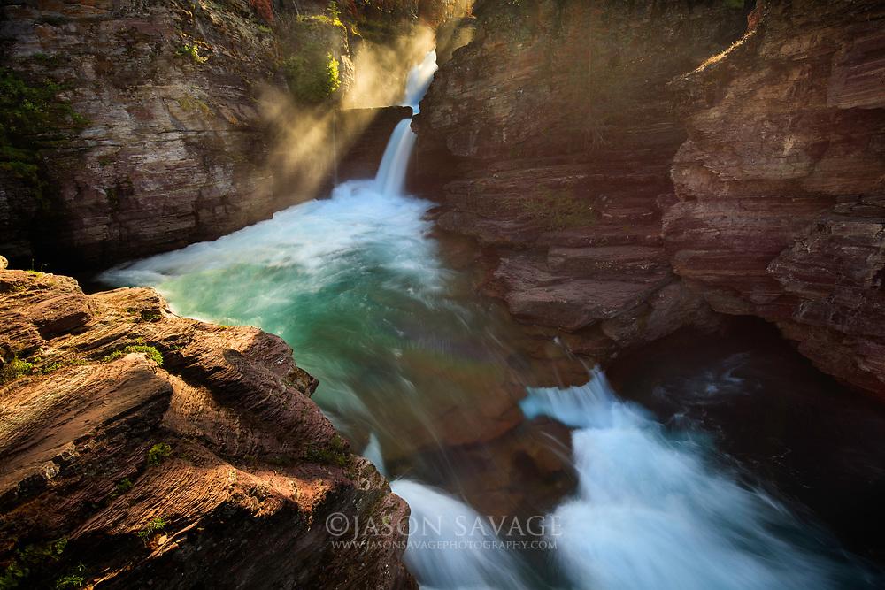St Mary Falls, Glacier National Park.