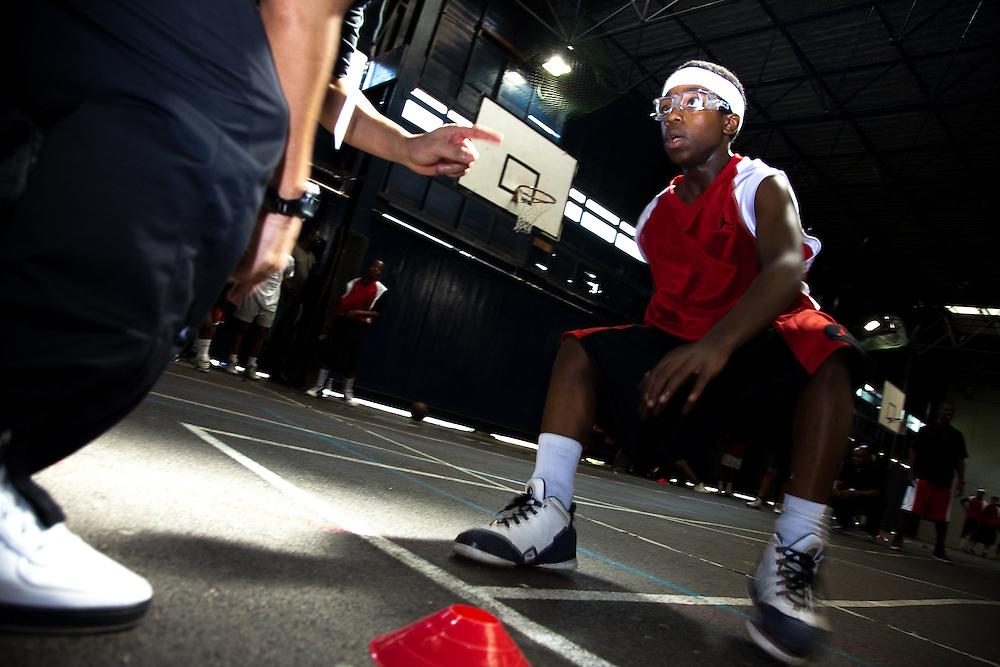 Nike Jordan Brand NBA athlete Chris Paul visits the Old Lillian Bayliss School to rededicate the Jordan Court and Lilian Baylis basketball facilities