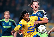 Onderwerp/Subject: RKC Waalwijk - Ajax - Eredivisie<br /> Reklame:  <br /> Club/Team/Country: <br /> Seizoen/Season: 2012/2013<br /> FOTO/PHOTO: Florian JOZEFZOON (L) of RKC Waalwijk in duel with Mitchell DIJKS (R) of Ajax. (Photo by PICS UNITED)<br /> <br /> Trefwoorden/Keywords: <br /> #04 $94 &plusmn;1355231322448 &plusmn;1355231322448<br /> Photo- &amp; Copyrights &copy; PICS UNITED <br /> P.O. Box 7164 - 5605 BE  EINDHOVEN (THE NETHERLANDS) <br /> Phone +31 (0)40 296 28 00 <br /> Fax +31 (0) 40 248 47 43 <br /> http://www.pics-united.com <br /> e-mail : sales@pics-united.com (If you would like to raise any issues regarding any aspects of products / service of PICS UNITED) or <br /> e-mail : sales@pics-united.com   <br /> <br /> ATTENTIE: <br /> Publicatie ook bij aanbieding door derden is slechts toegestaan na verkregen toestemming van Pics United. <br /> VOLLEDIGE NAAMSVERMELDING IS VERPLICHT! (&copy; PICS UNITED/Naam Fotograaf, zie veld 4 van de bestandsinfo 'credits') <br /> ATTENTION:  <br /> &copy; Pics United. Reproduction/publication of this photo by any parties is only permitted after authorisation is sought and obtained from  PICS UNITED- THE NETHERLANDS