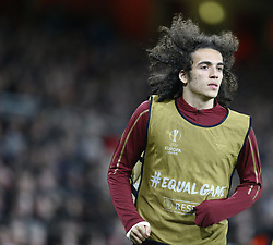 March 14, 2019 - London, United Kingdom - London, UK, 14 March, 2019.Matteo Guendouzi of Arsenal.during Europa League Round of 16 2nd Leg  between Arsenal and Rennes at Emirates stadium , London, England on 14 Mar 2019. (Credit Image: © Action Foto Sport/NurPhoto via ZUMA Press)