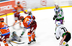 Rok Ticar of Jesenice during ice-hockey match between HK Acroni Jesenice and HDD Tilia Olimpija in fourth game of Final at Slovenian National League, on April 8, 2011 at Arena Podmezakla, Jesenice, Slovenia. (Photo by Vid Ponikvar / Sportida)