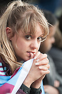 A nervous looking Burnley fan during the Sky Bet Championship match at Turf Moor, Burnley<br /> Picture by Matt Wilkinson/Focus Images Ltd 07814 960751<br /> 02/05/2016