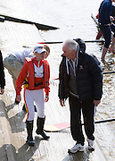 Chiswick; Great Britain; Left,  Ali WILLIAMS chats with Coach Bill BARRY before the start of the 2009 Head of the River Race, race Mortlake to Putney,  Sat 21.03.2009 [Mandatory Credit. Peter Spurrier/Intersport Images]