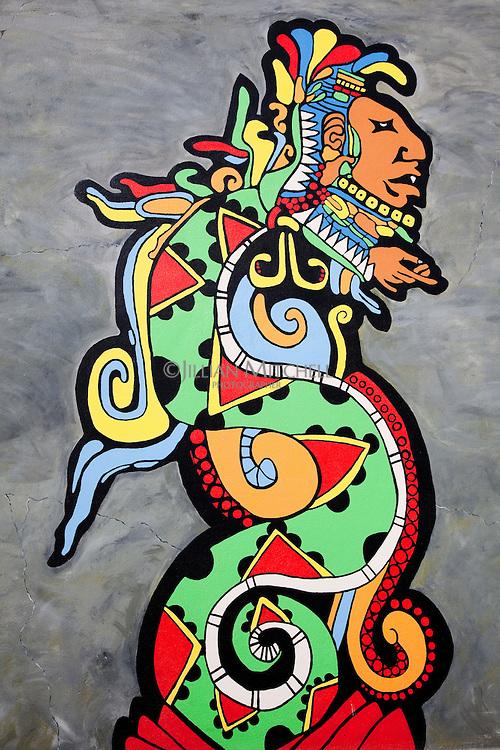 Street art in San Ignacio, Belize.
