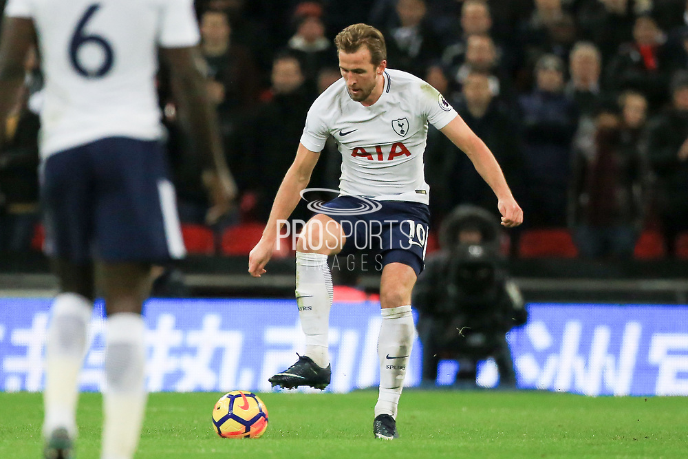 Harry Kane of Tottenham Hotspur during the Premier League match between Tottenham Hotspur and Manchester United at Wembley Stadium, London, England on 31 January 2018. Photo by Phil Duncan.