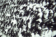 Crowds of people sitting in a stadium