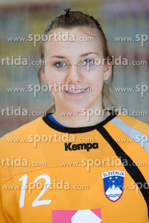 Portrait of Amra Pandzic of Slovenian Handball Women National Team, on June 3, 2009, in Arena Kodeljevo, Ljubljana, Slovenia. (Photo by Vid Ponikvar / Sportida)