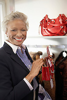 Smiling Woman Shopping