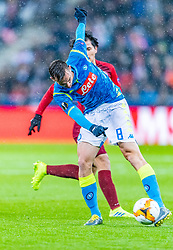 14.03.2019, Red Bull Arena, Salzburg, AUT, UEFA EL, FC Red Bull Salzburg vs SSC Napoli, Achtelfinale, Rückspiel, im Bild Fabián Ruiz (SSC Napoli) // during the UEFA Europa League round of 16, 2nd leg match between FC Red Bull Salzburg and SSC Napoli at the Red Bull Arena in Salzburg, Austria on 2019/03/14. EXPA Pictures © 2019, PhotoCredit: EXPA/ Stefan Adelsberger