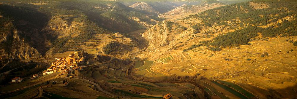 SPAIN, NORTH, ARAGON Linares de Mora, an isolated mountain village in the Sierra del Maestrazgo, near Teruel