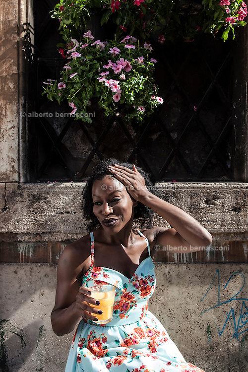 Rome, the writer Taiye Selasi, Trastevere
