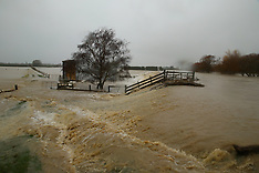 Christchurch-Selwyn River bursts its banks, Days Road, Ellesmere