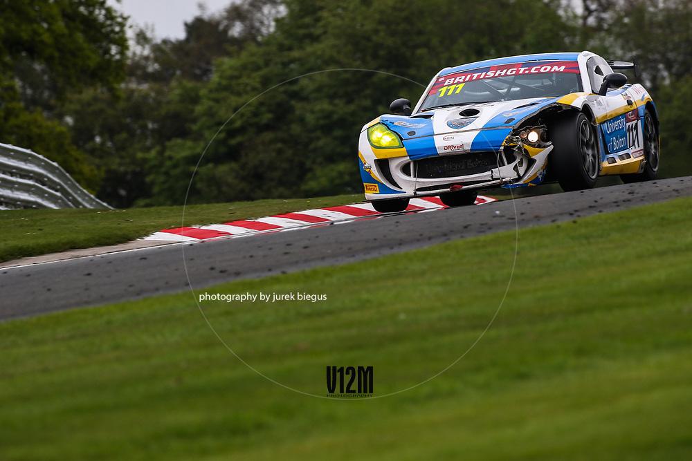 Century Motorsport | Ginetta G55 GT4 | Anna Walewska | Mike Simpson | British GT Championship | Oulton Park | 17 April 2017 | Photo: Jurek Biegus