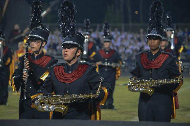 """Nation Ford High School Band performs """"The Ancient Art of War"""" at 2013 Providence Cup."""