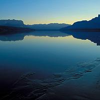 Jasper Lake. Jasper National Park, Canada.