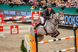 WERNKE Jan (GER), Christa 27<br /> Leipzig - Partner Pferd 2020<br /> FUNDIS Youngster Tour<br /> 2. Qualifikation für 7jährige Pferde <br /> Springprfg. nach Fehlern und Zeit, int.<br /> Höhe: 1.35 m<br /> 18. Januar 2020<br /> © www.sportfotos-lafrentz.de/Stefan Lafrentz
