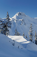 Table Mountain in winter, Heather Meadows Recreation Area, North Cascades Washington
