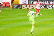 Sheffield United Billy Sharp (10) heads towards goal during the Pre-Season Friendly match between Barnsley and Sheffield United at Oakwell, Barnsley, England on 27 July 2019.