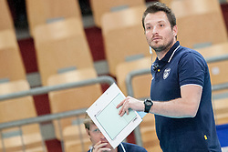 Luka Slabe, head coach of Slovenia during volleyball match between National Teams of Slovenia and FRY Macedonia of 2014 CEV Volleyball European League Man - Pool B, on July 5, 2014, in Arena Ljudski vrt Lukna, Maribor, Slovenia, Slovenia. Photo by Urban Urbanc / Sportida