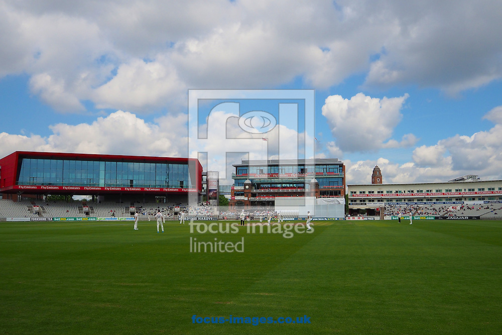 General view of the ground during the LV County Championship Div One match at Old Trafford Cricket Ground, Stretford<br /> Picture by Ian Wadkins/Focus Images Ltd +44 7877 568959<br /> 06/05/2014