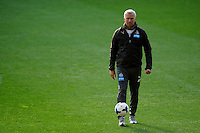 Manager Alan Pardew of Newcastle United looks on, during the Newcastle Knights training, held at Forsyth Barr Stadium, Dunedin, New Zealand, 21 July 2014. Credit: Joe Allison / allisonimages.co.nz